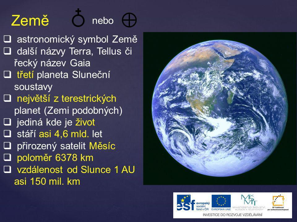 Země nebo astronomický symbol Země