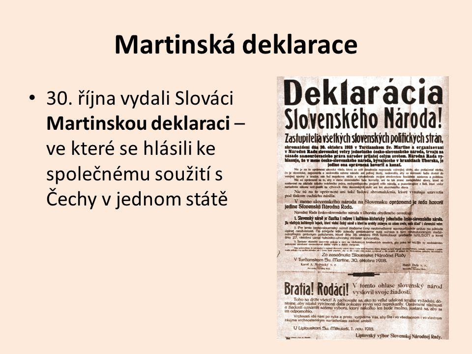 Martinská deklarace 30.