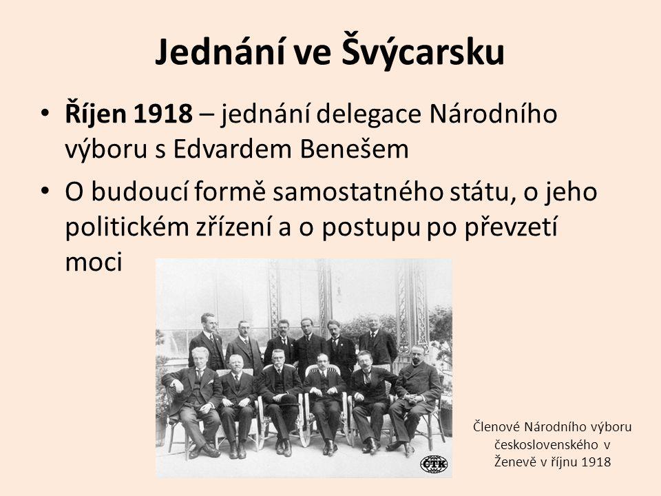 Členové Národního výboru československého v Ženevě v říjnu 1918