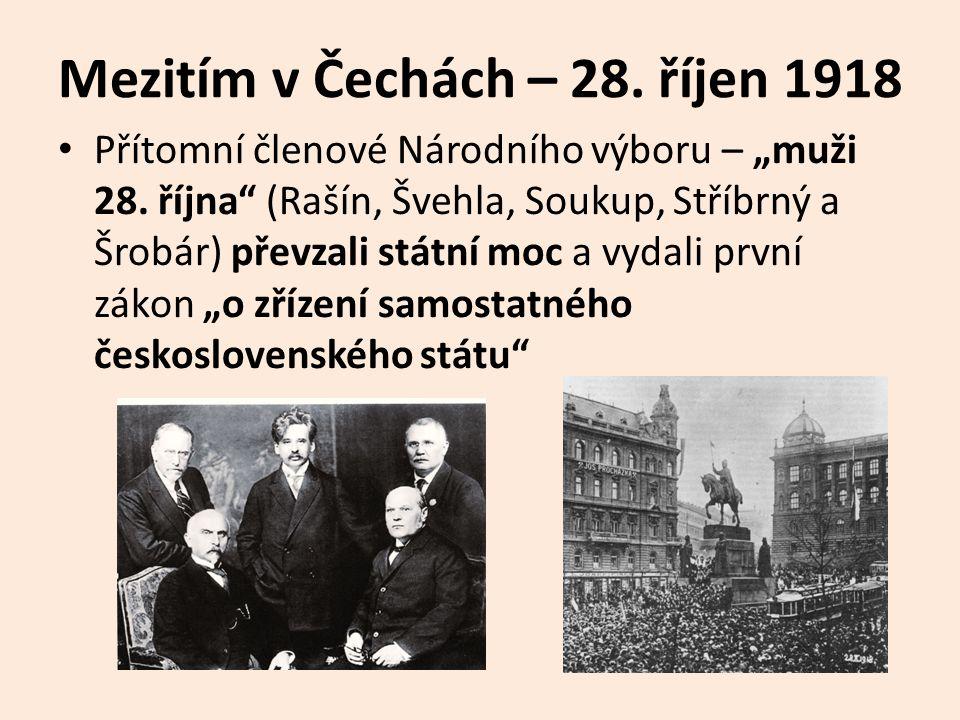 Mezitím v Čechách – 28. říjen 1918
