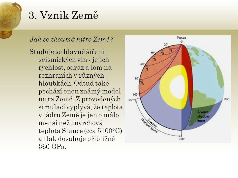 3. Vznik Země Jak se zkoumá nitro Země