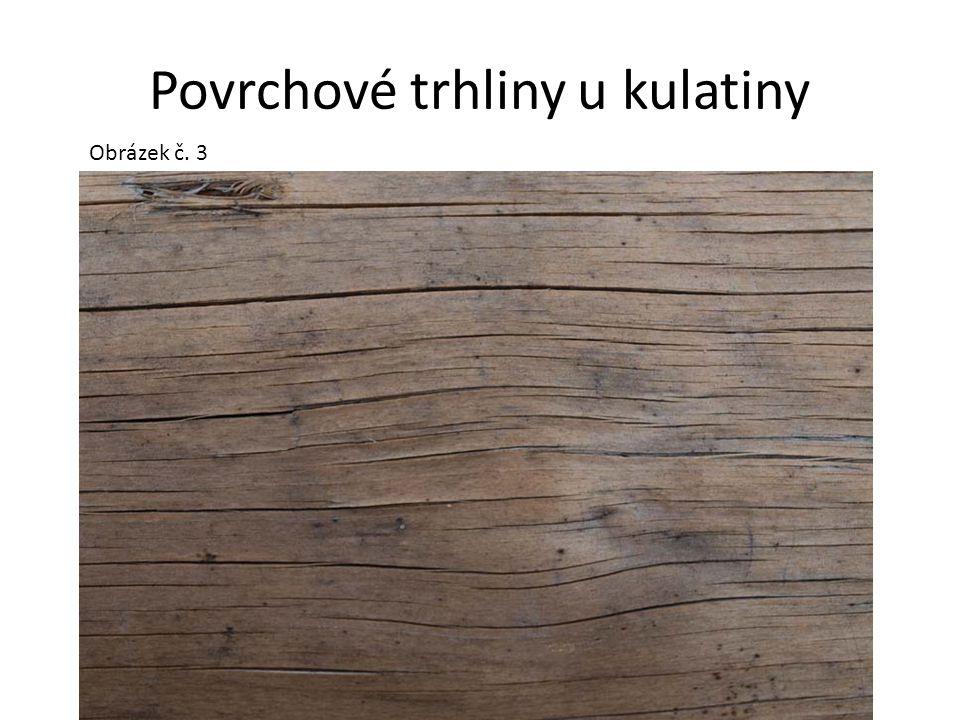Povrchové trhliny u kulatiny
