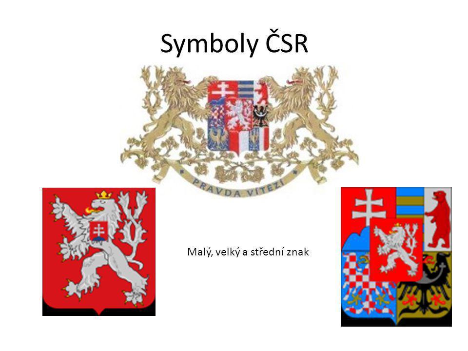 Symboly ČSR Malý, velký a střední znak