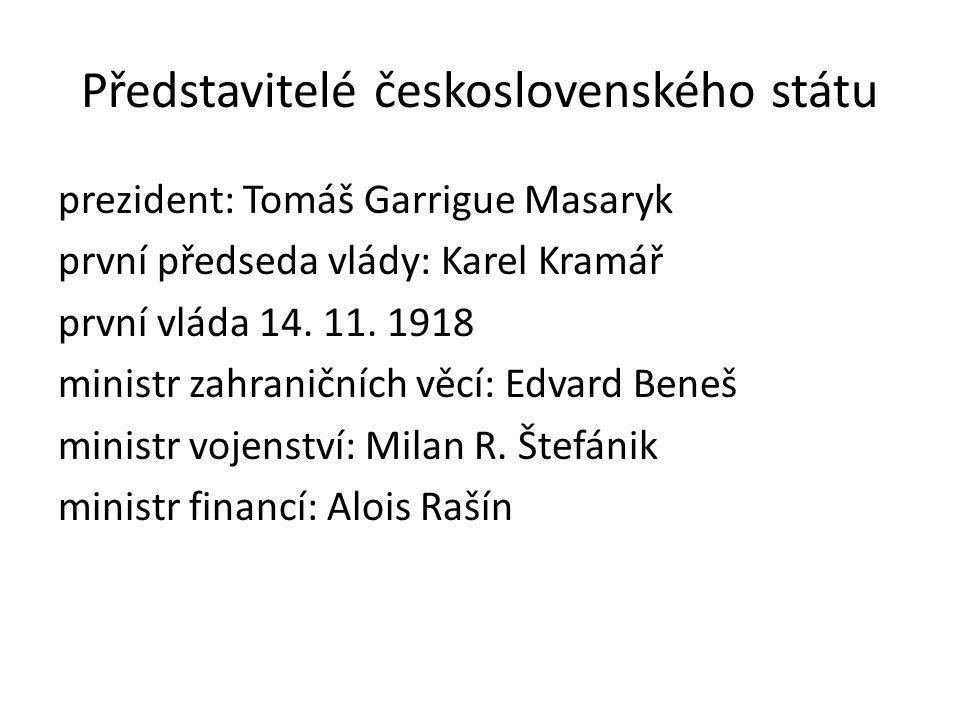 Představitelé československého státu