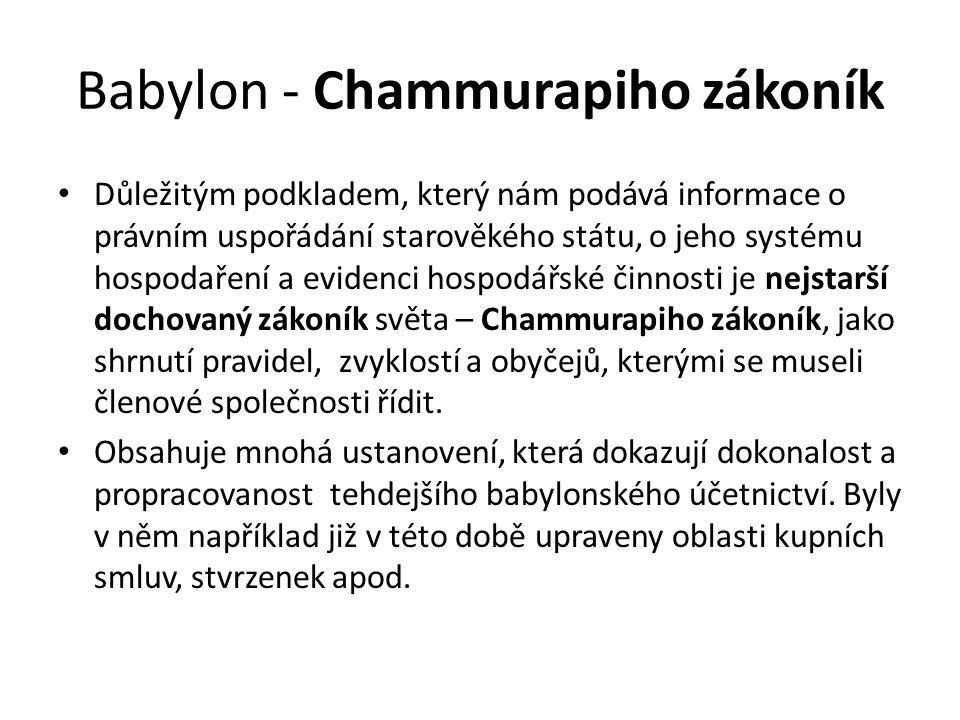 Babylon - Chammurapiho zákoník