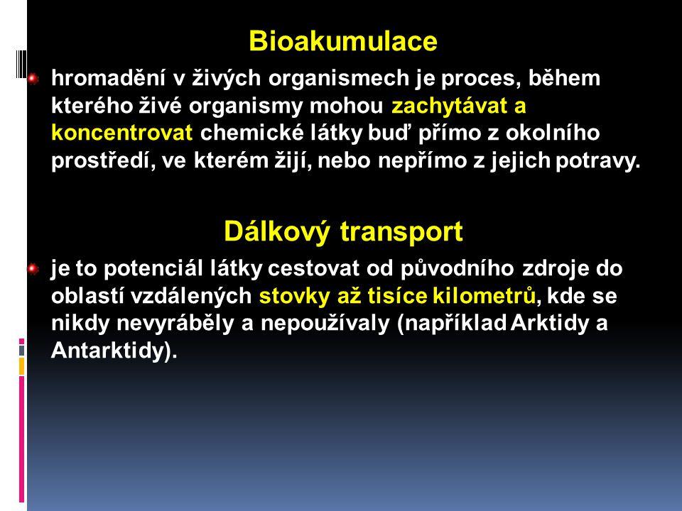 Bioakumulace Dálkový transport