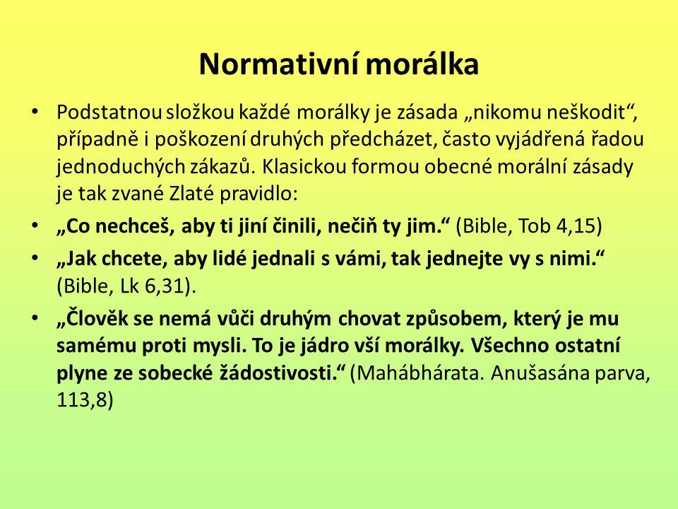 Normativní morálka