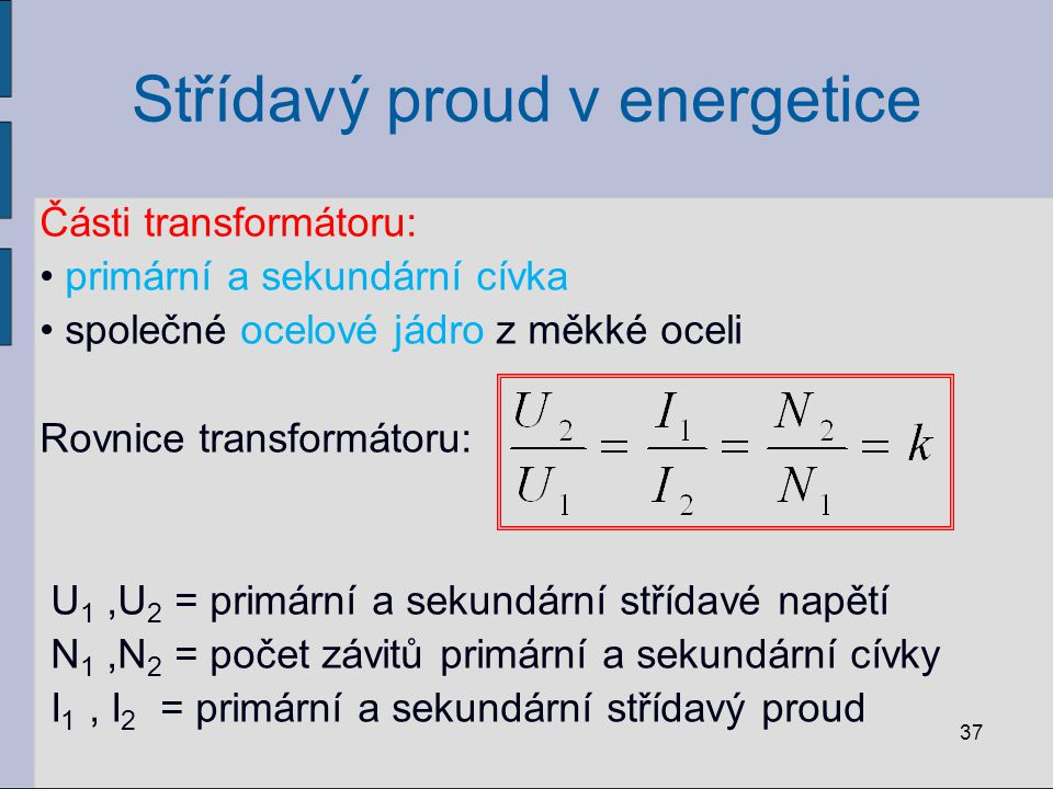 Střídavý proud v energetice