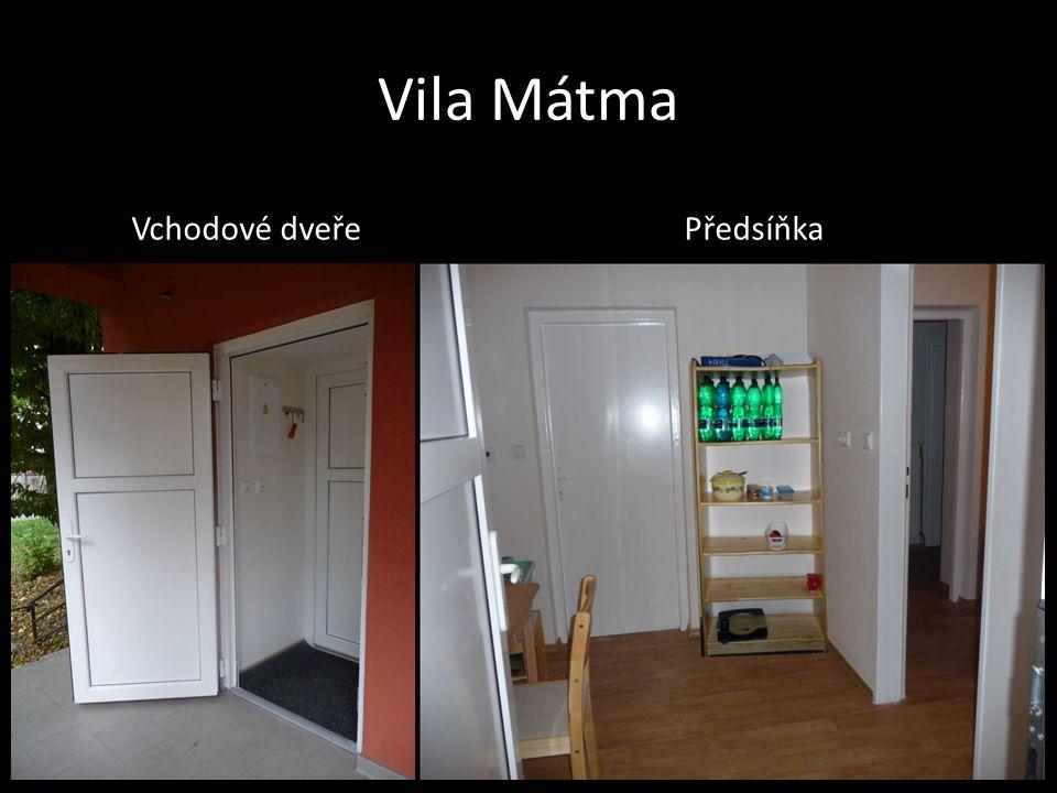 Vila Mátma Vchodové dveře Předsíňka