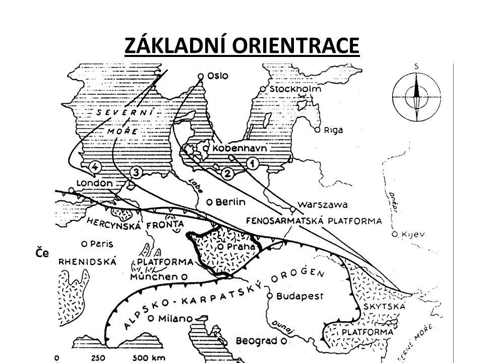 ZÁKLADNÍ ORIENTRACE Český masiv Západní Karpaty