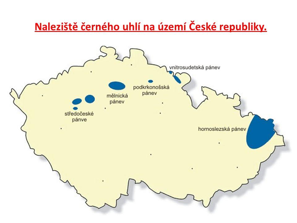 Naleziště černého uhlí na území České republiky.