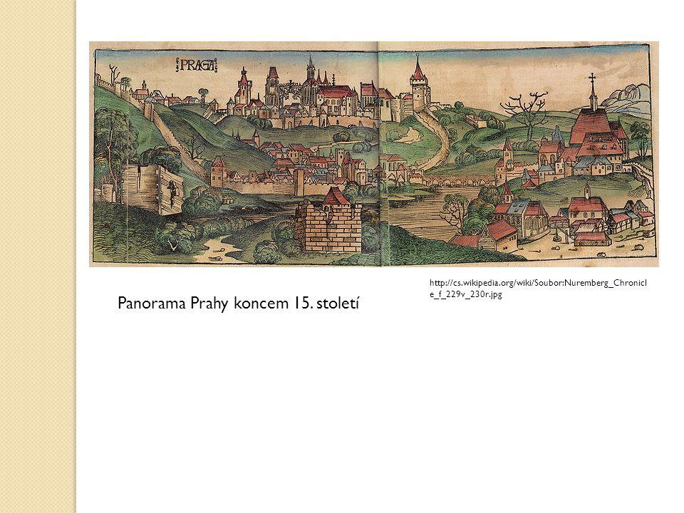 Panorama Prahy koncem 15. století