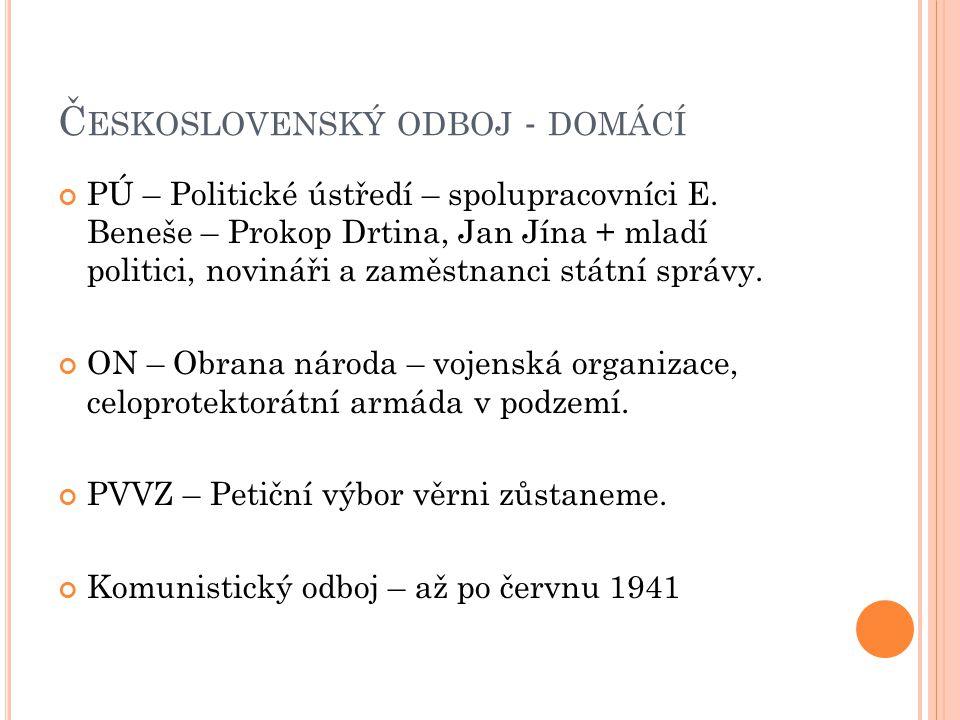 Československý odboj - domácí