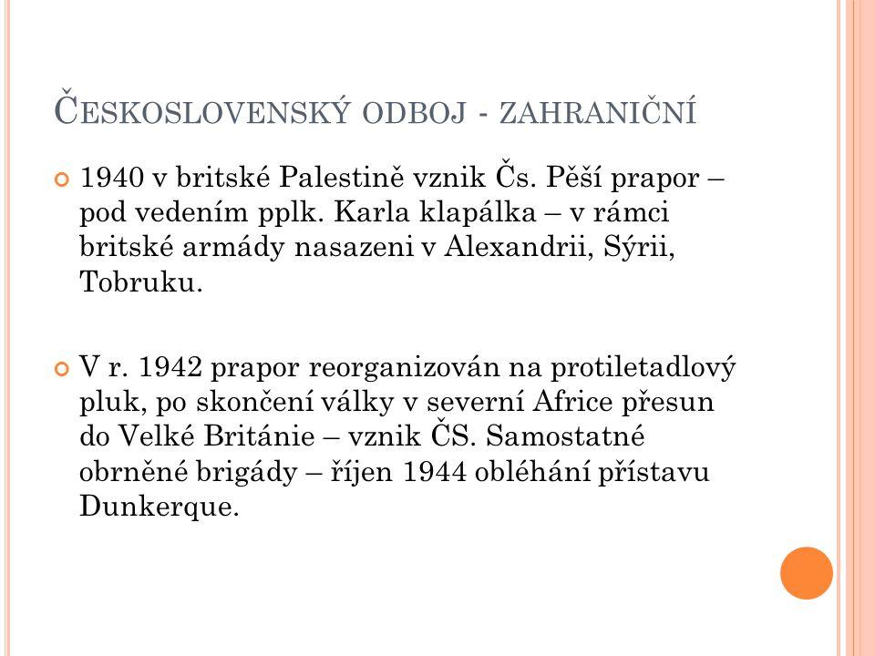 Československý odboj - zahraniční