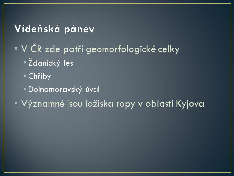 Vídeňská pánev V ČR zde patří geomorfologické celky