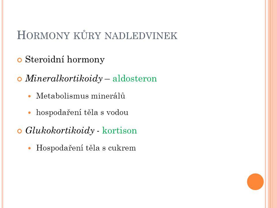 Hormony kůry nadledvinek