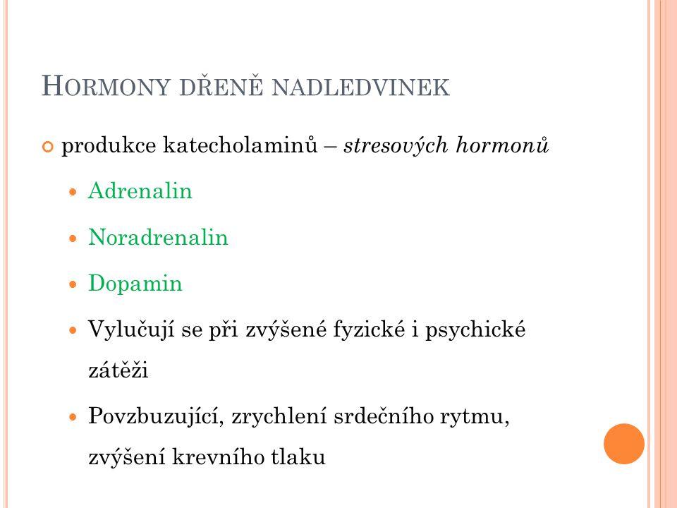 Hormony dřeně nadledvinek