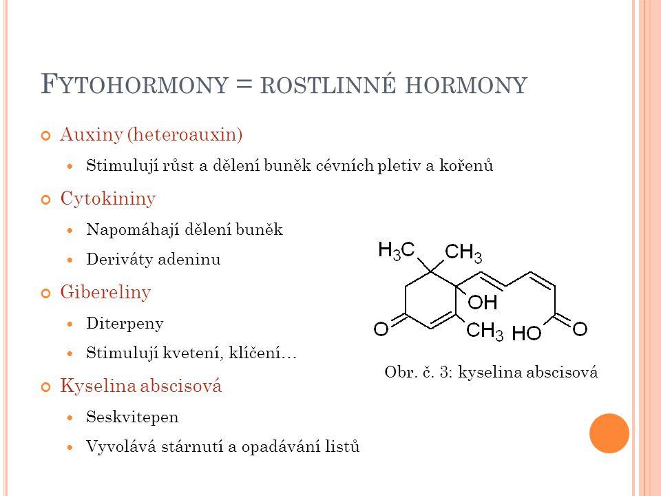 Fytohormony = rostlinné hormony