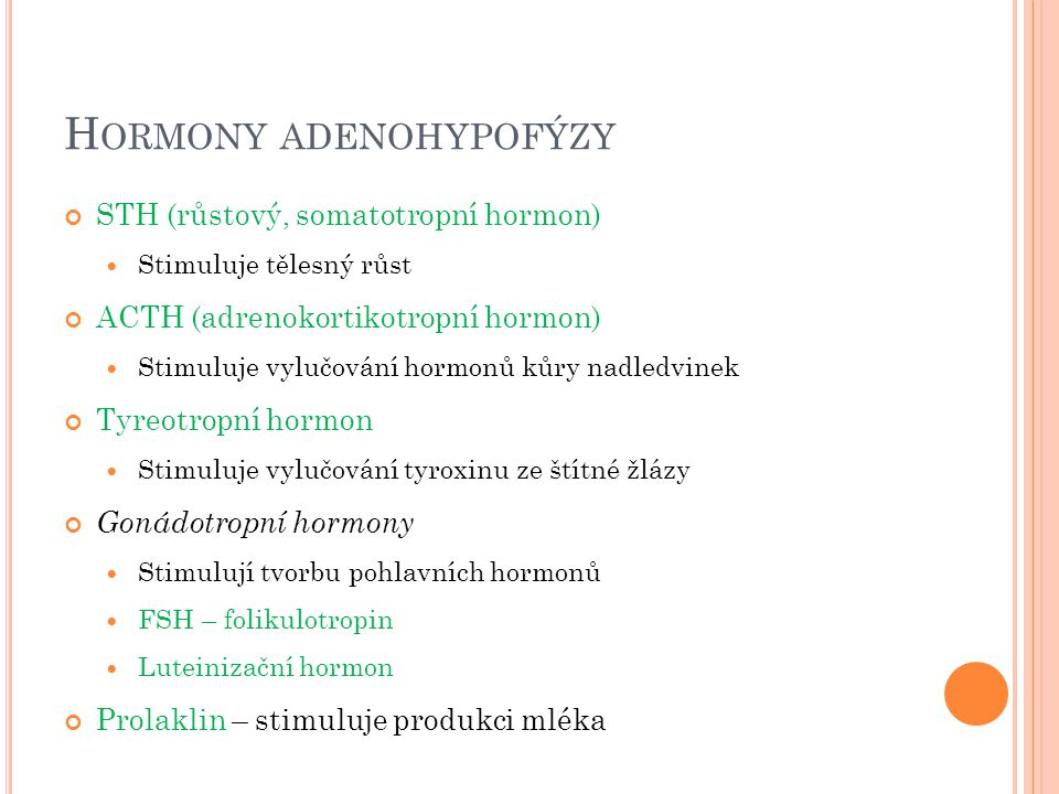 Hormony adenohypofýzy