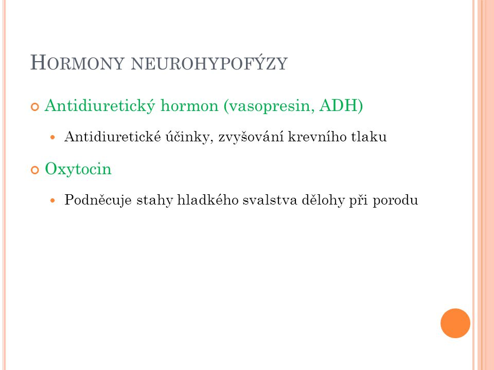 Hormony neurohypofýzy