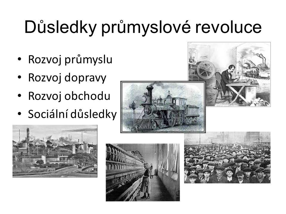 Důsledky průmyslové revoluce