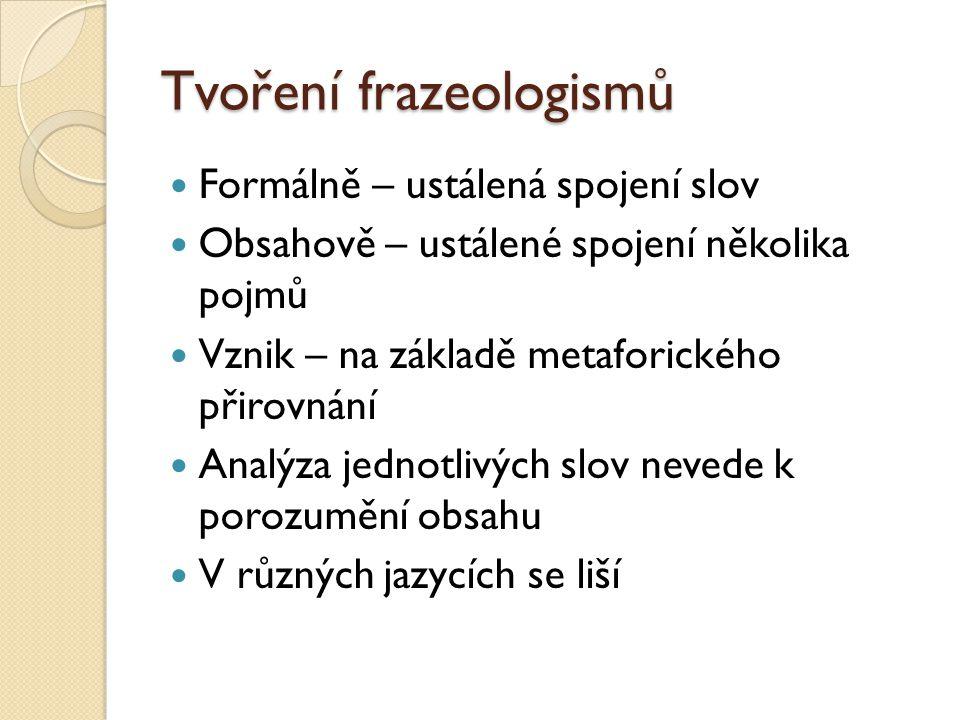 Tvoření frazeologismů