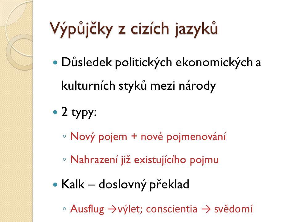 Výpůjčky z cizích jazyků