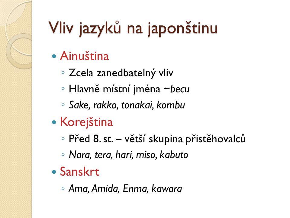 Vliv jazyků na japonštinu