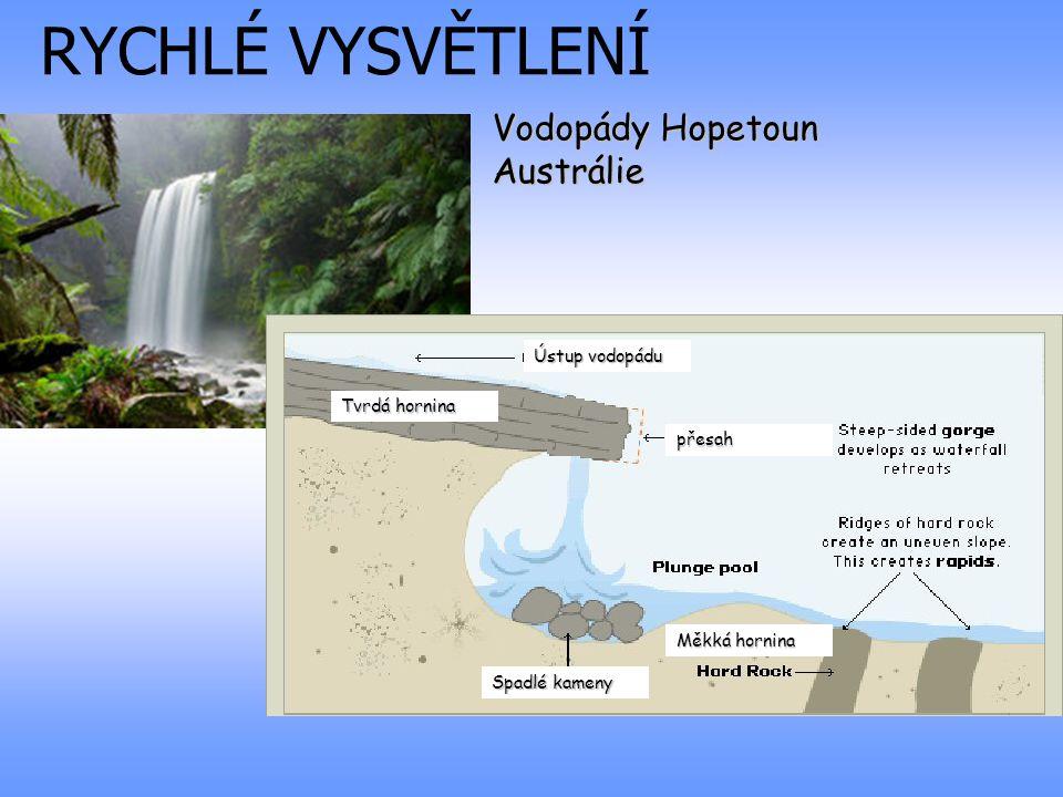 RYCHLÉ VYSVĚTLENÍ Vodopády Hopetoun Austrálie Ústup vodopádu