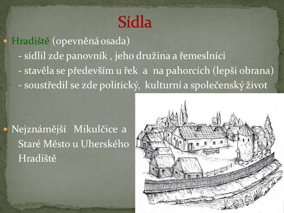 Sídla Hradiště (opevněná osada)