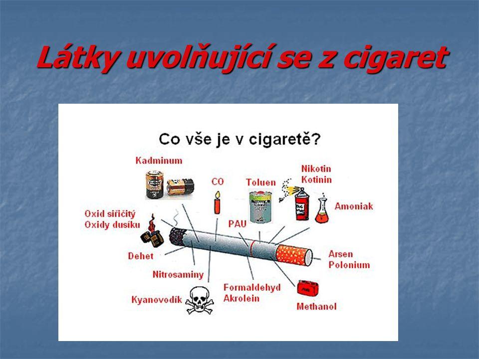 Látky uvolňující se z cigaret