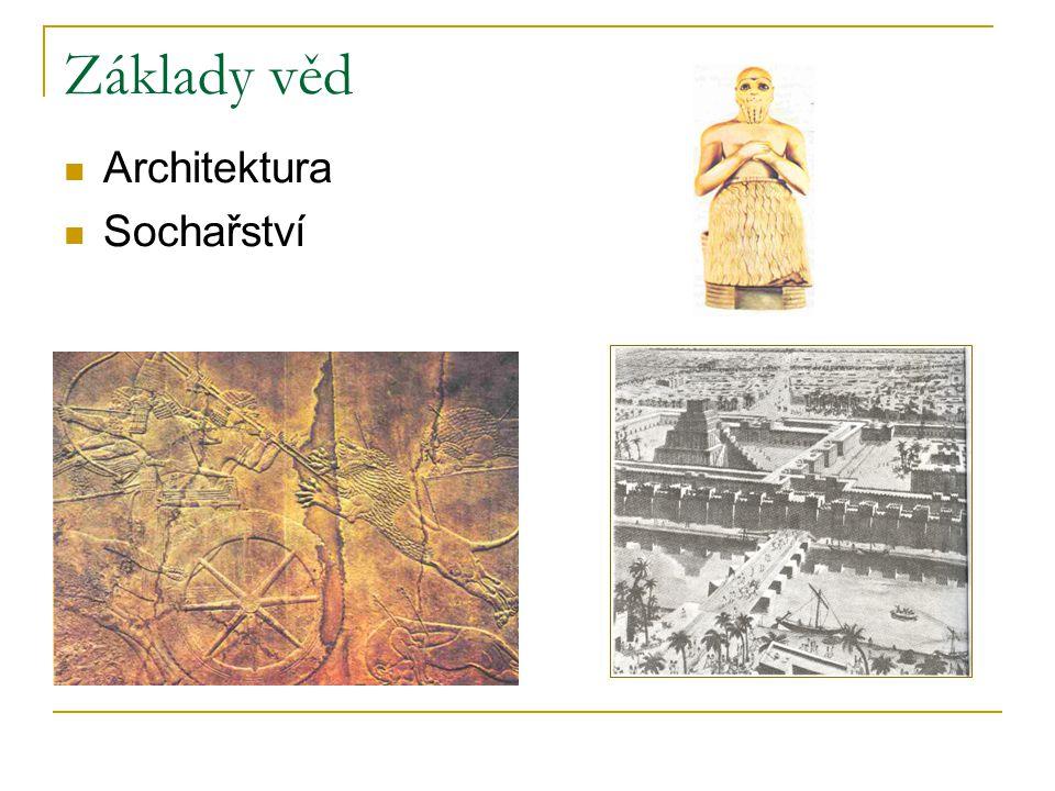 Základy věd Architektura Sochařství
