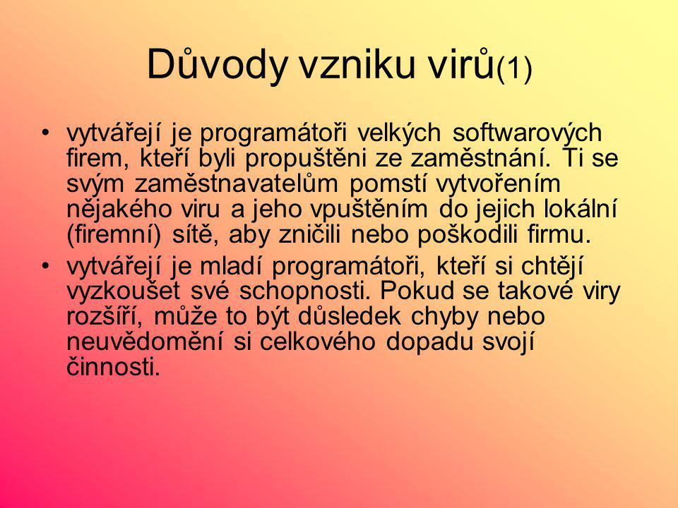 Důvody vzniku virů(1)