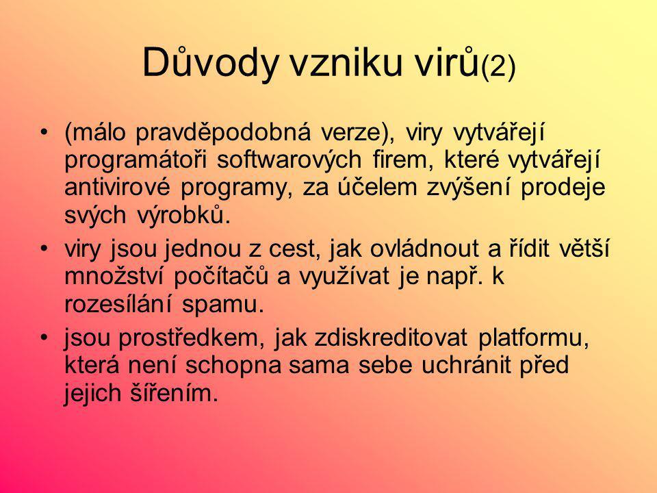 Důvody vzniku virů(2)