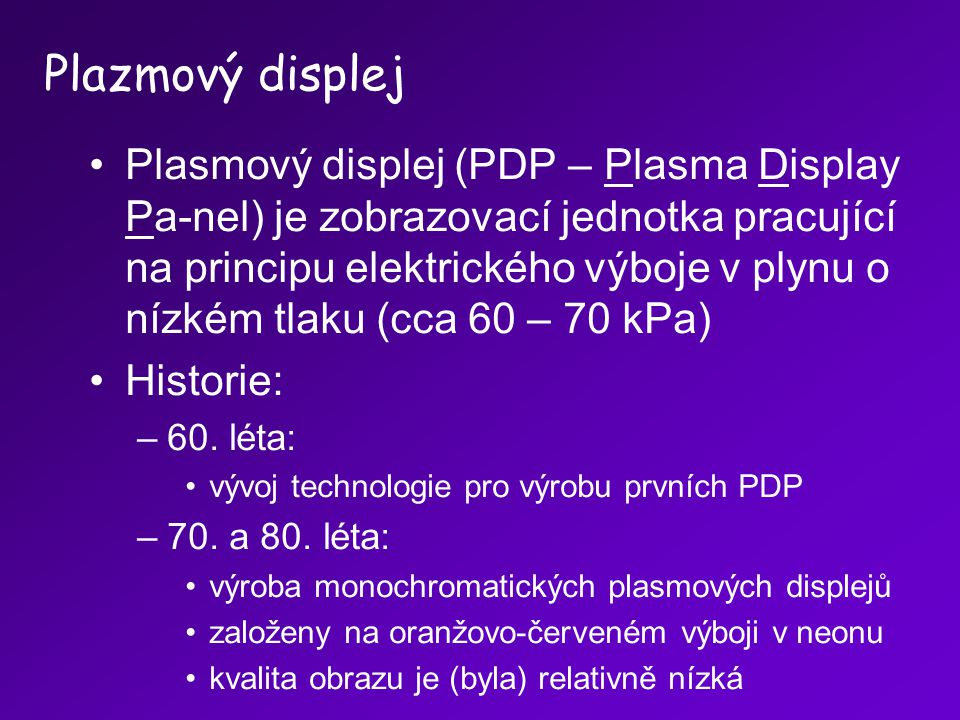 Plazmový displej