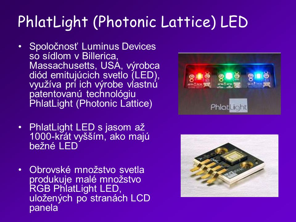PhlatLight (Photonic Lattice) LED