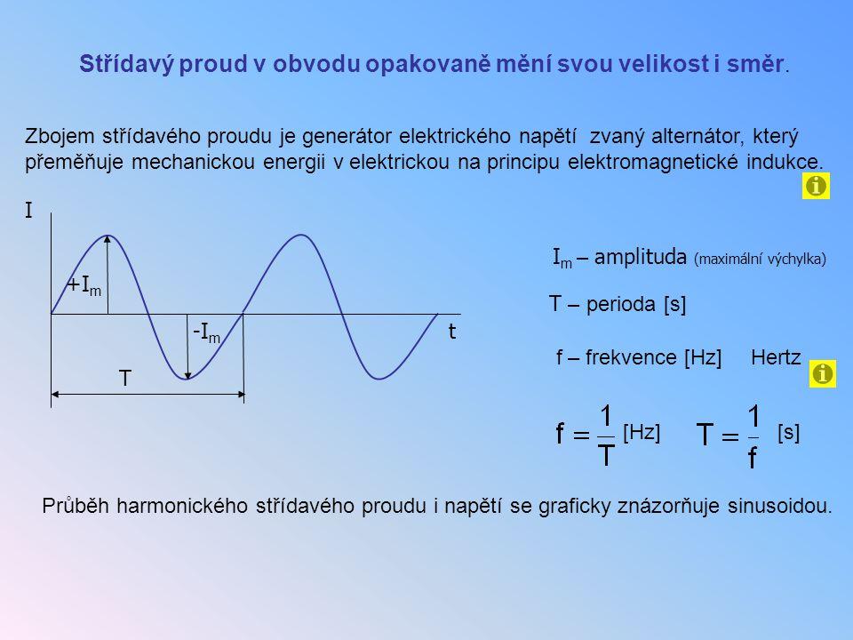 Střídavý proud v obvodu opakovaně mění svou velikost i směr.