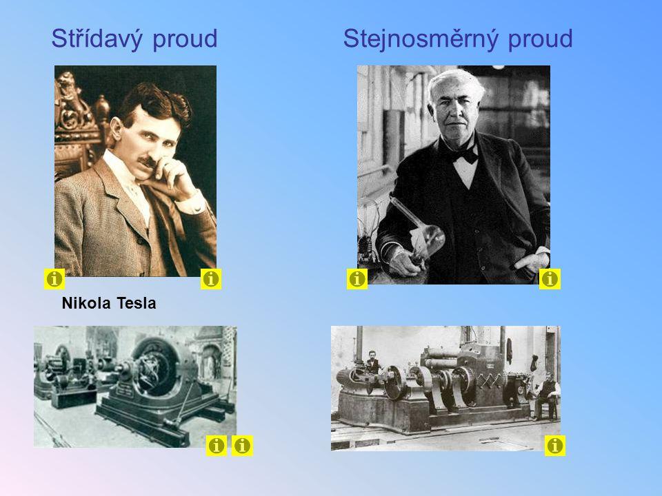 Střídavý proud Stejnosměrný proud Nikola Tesla