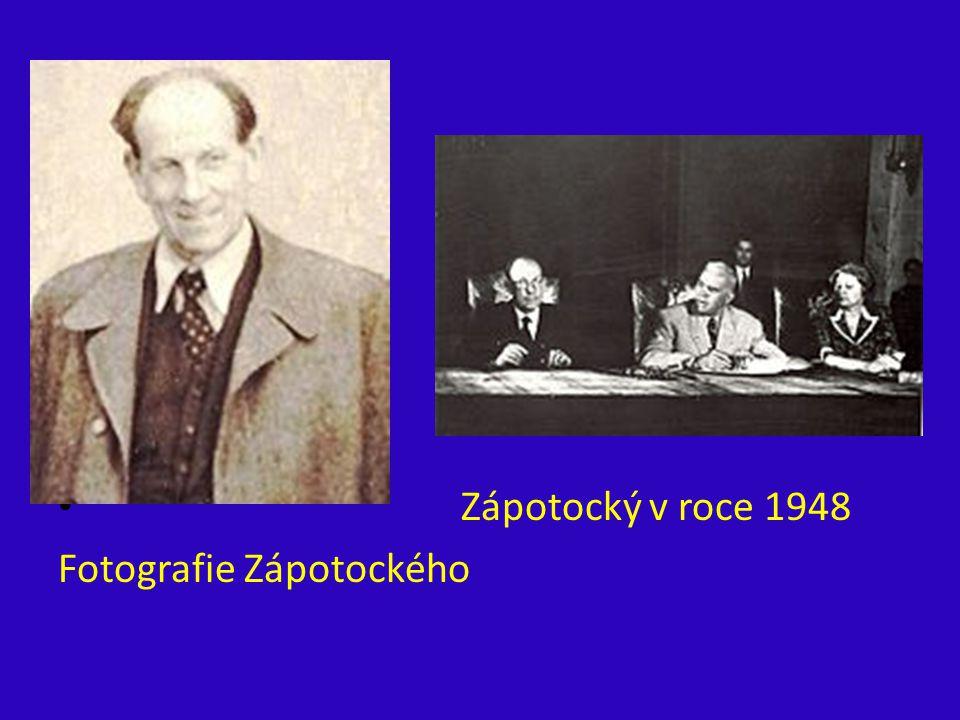 ´ Zápotocký v roce 1948 Fotografie Zápotockého