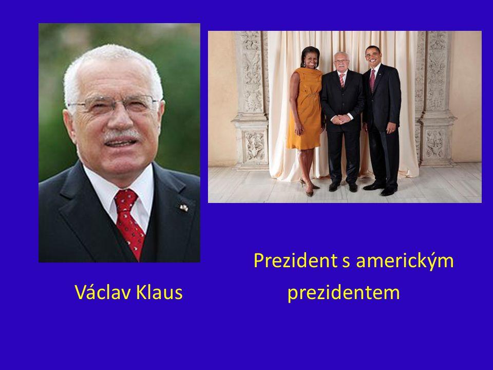 Prezident s americkým Václav Klaus prezidentem