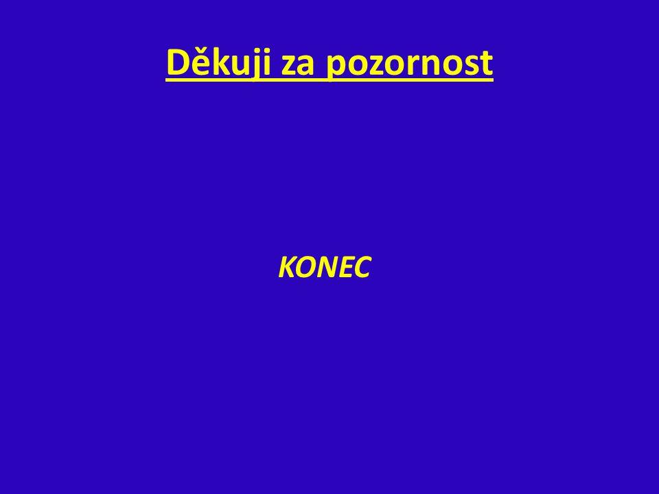 Děkuji za pozornost KONEC