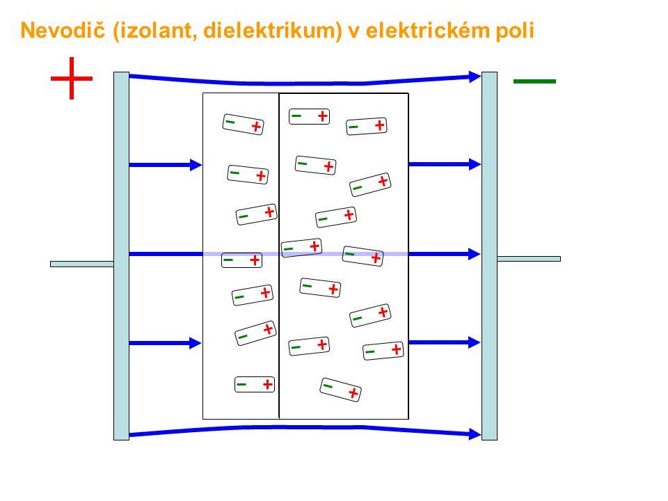 Nevodič (izolant, dielektrikum) v elektrickém poli