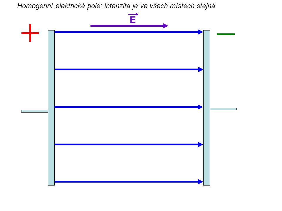 Homogenní elektrické pole; intenzita je ve všech místech stejná