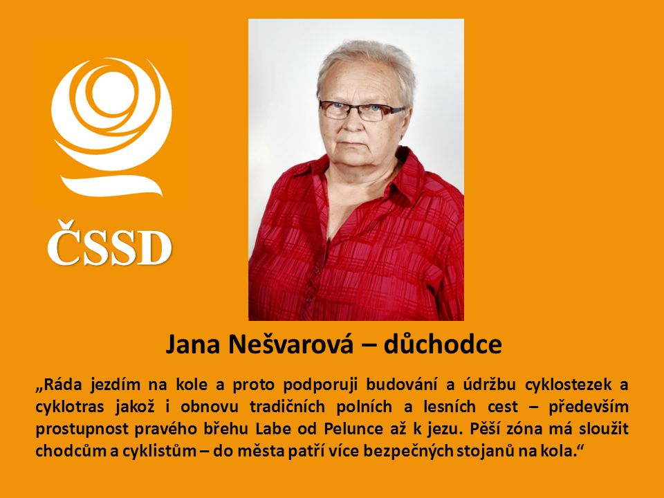 ČSSD Jana Nešvarová – důchodce