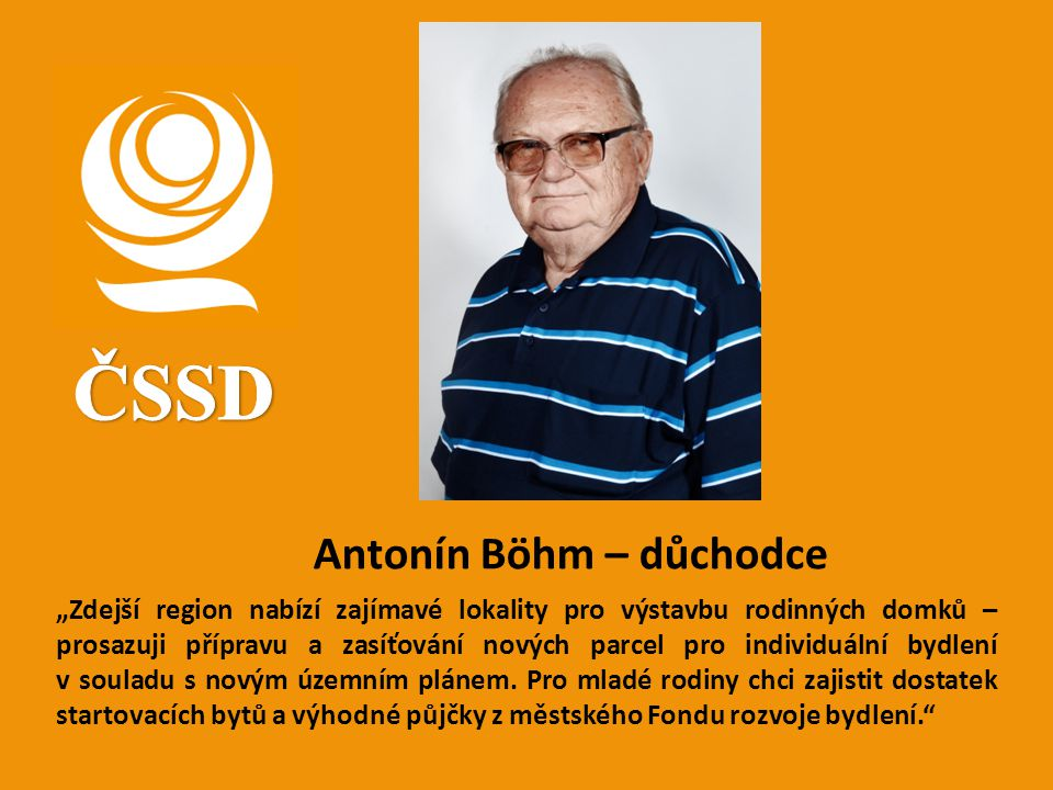 ČSSD Antonín Böhm – důchodce