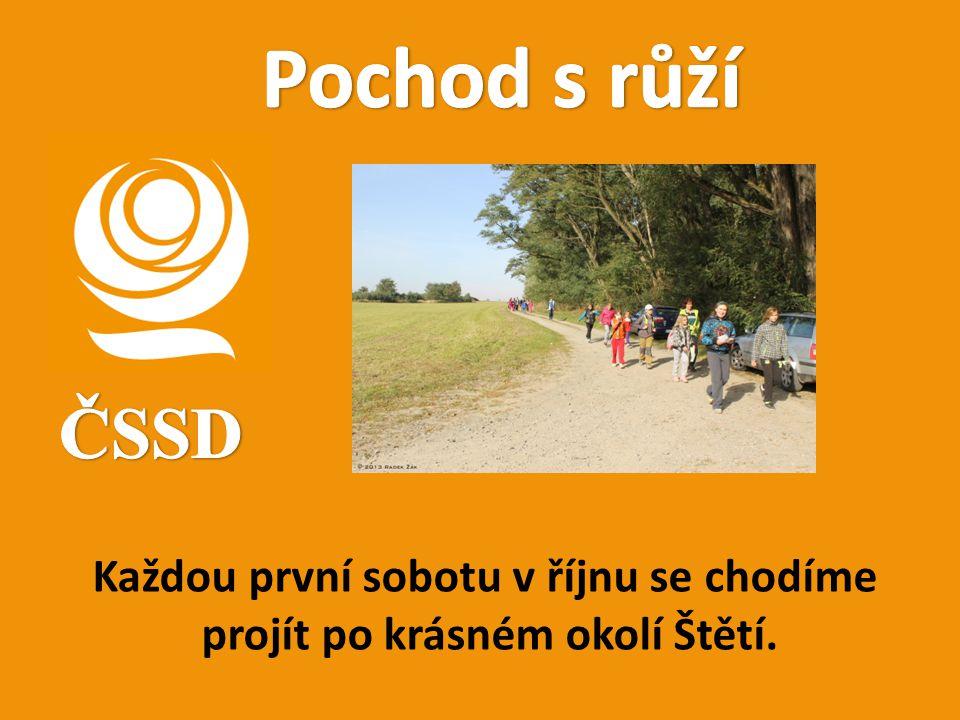 Každou první sobotu v říjnu se chodíme projít po krásném okolí Štětí.