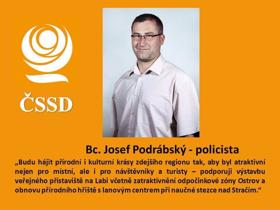 ČSSD Bc. Josef Podrábský - policista