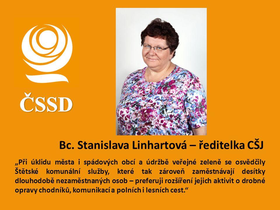 ČSSD Bc. Stanislava Linhartová – ředitelka CŠJ