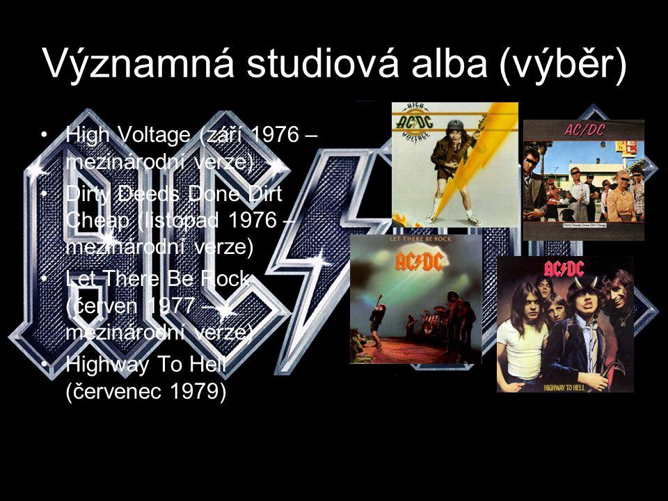 Významná studiová alba (výběr)