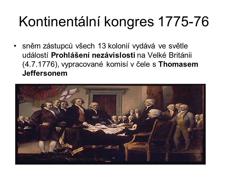 Kontinentální kongres 1775-76